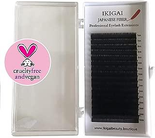 Eyelash Extensions Japanese IKIGAI C J Curl 8-15mm Volume Lashes Mix Flat Eyelash Extension supplies Light Lashes Matte Individual Eyelashes Salon Use Black Mink False Lashes Mink (MIX C0.15)