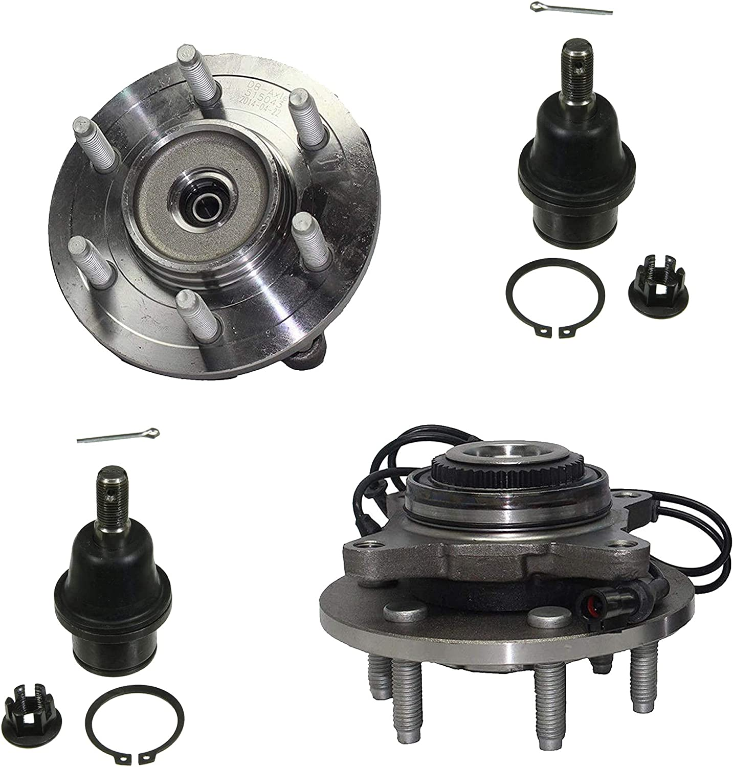 Detroit Axle - Pair セットアップ 2 ランキング総合1位 Front Wheel and Hub Assemblies w Bearing