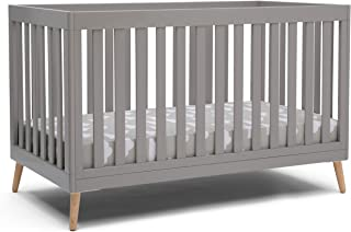 Delta Children Essex 4-in-1 Convertible Baby Crib, Grey with Natural Legs, Grey with Natural Legs