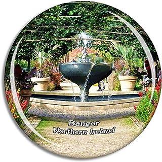 Northern Ireland Bangor Castle Walled Garden UK England Fridge Magnet Travel Gift Souvenir Collection 3D Crystal Glass Sti...