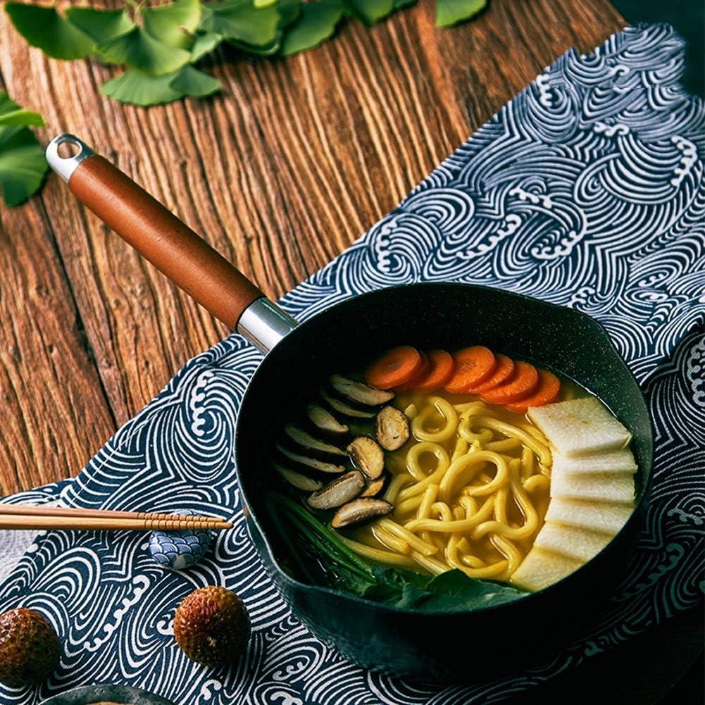 WYZQ Poêle antiadhésive de Style Japonais Maifanshi Thicken (Couleur: Pot à Lait, Taille: 20cm), Pots à Lait Milk Pot
