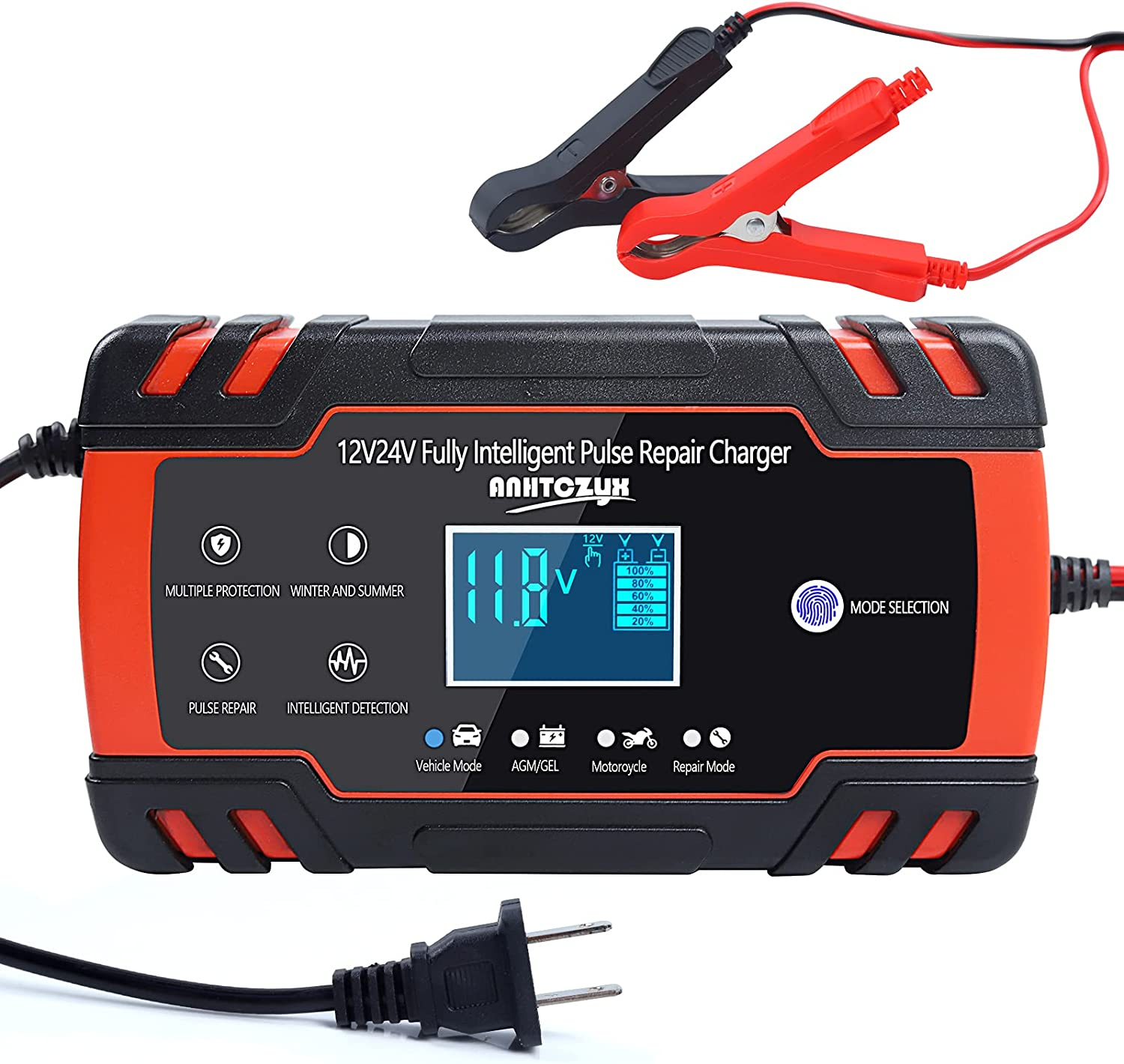 Intelligent Miami Mall Car Battery Charger Smart Automatic 12V 24V Virginia Beach Mall