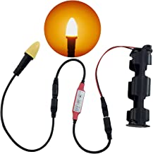 Candle flame light LED kit for props scenery theatrical candles torches lanterns and escape room props operates on 9 volt battery or 12 volts DC 1,722 kelvin candlelight with flicker control