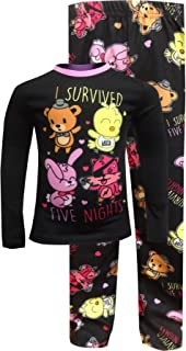INTIMO Girls' Five Nights at Freddy's I Survived Pajama Set Black