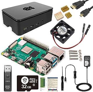 Raspberry Pi 4 Model B Ultimate Kit/ラズベリーパイ4B(4GB RAM)技適マーク付/MicroSDHCカード32GB NOOBSプリインストール/1つのプレミアムケース/Marstudy独自の低騒音ベアリン...