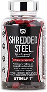 Shredded Steel, SteelFit, Extreme Thermogenic Weight Loss Solution, 90 Count, 1 Month Supply