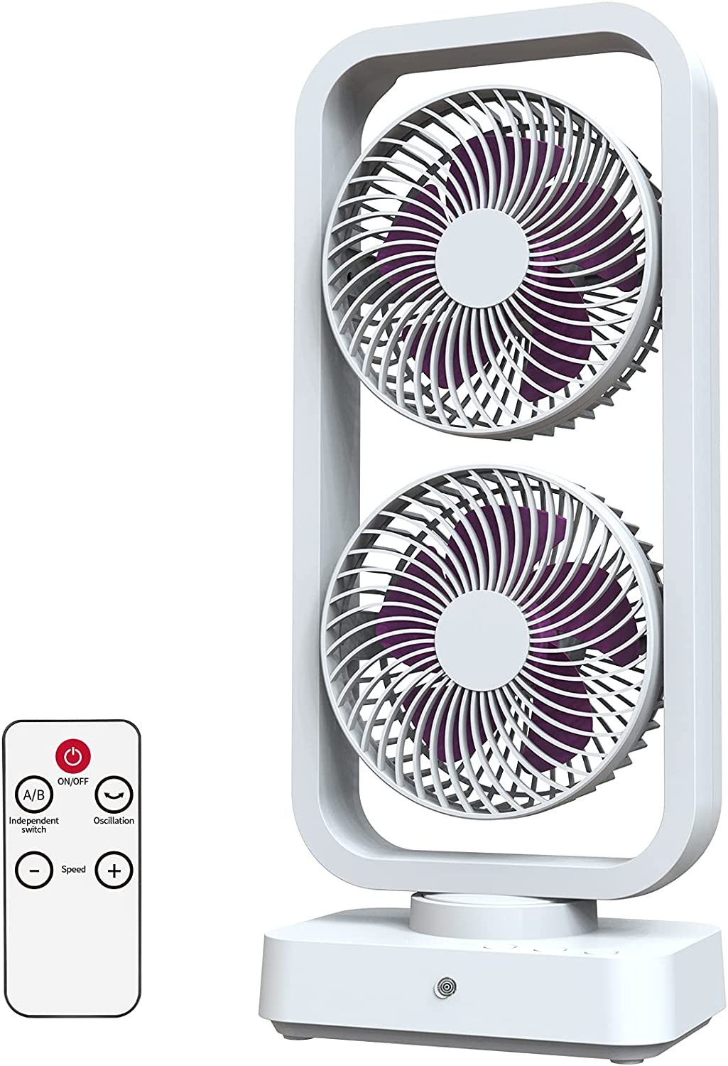 10000mAh Battery Operated Oscillating Max 72% OFF Selling rankings Fan w Remote 16Inch Recha