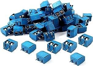 SamIdea 60pcs 2P 5.08mm Spacing PCB Mount Screw Terminal Blocks Arduino Socket Strips,Blue 300V/16A