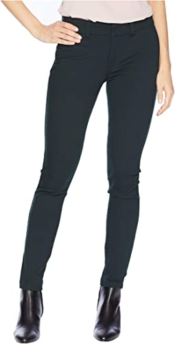 Mia Ankle Skinny Jeans with Front Faux Pockets in Deep Green