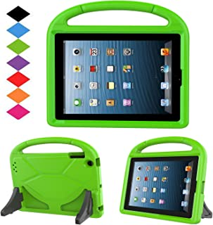 Kids Case for iPad 2 3 4 - TIRIN Shock Proof Convertible Handle Light Weight Durable Super Protective Stand Cover for iPad 4, iPad 3 & iPad 2 2nd 3rd 4th Generation Tablet,Green