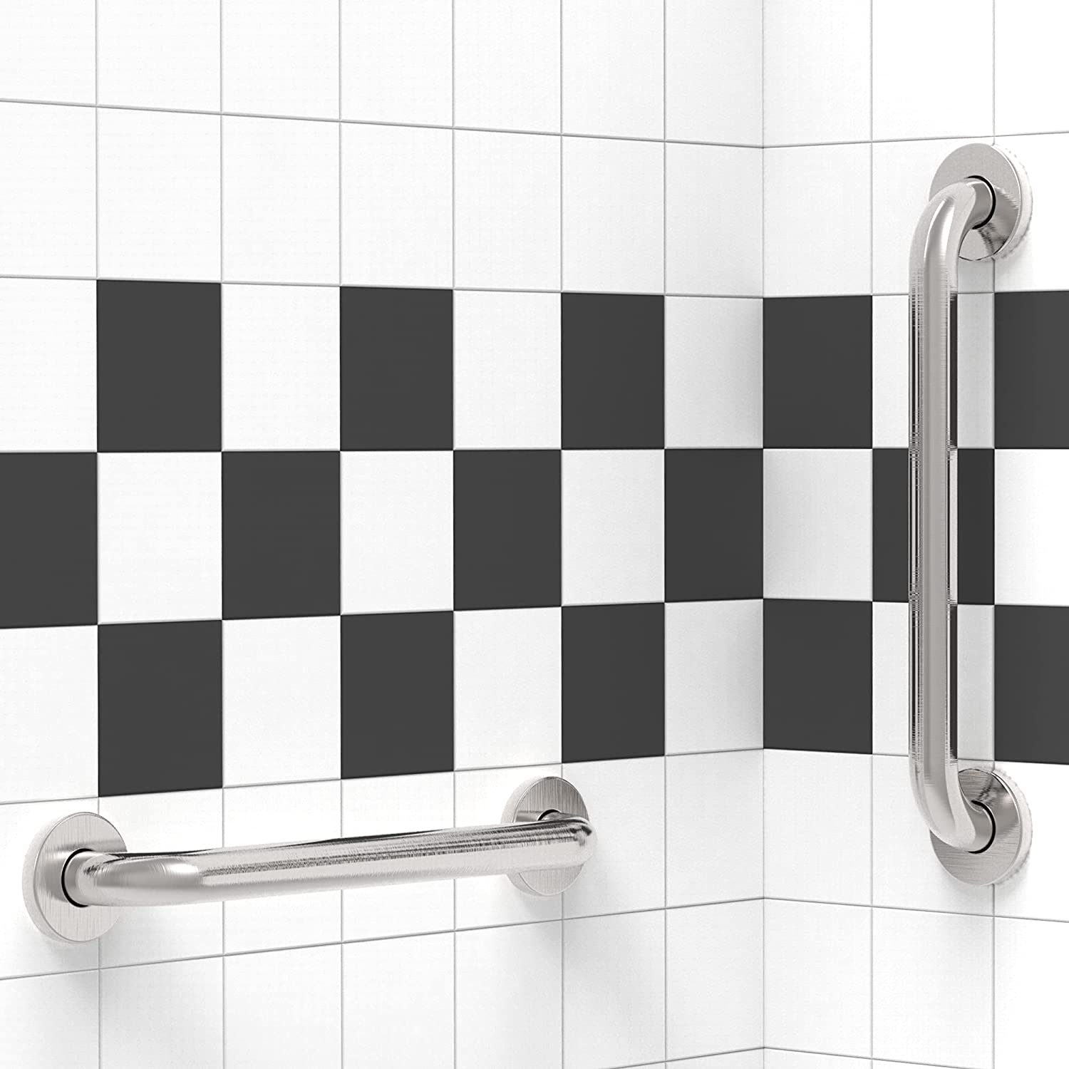 AmeriLuck 16 inches Stainless Steel Bath Ranking TOP18 Ranking TOP1 Pack Safety Grab 2 Bar