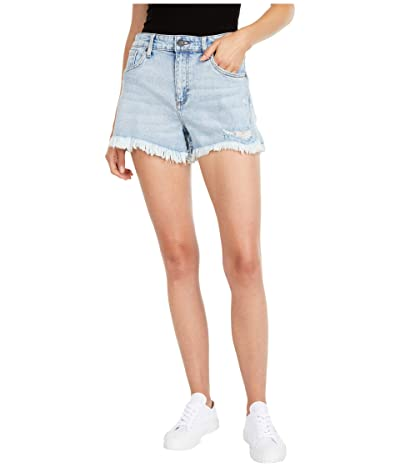 KUT from the Kloth Jane High-Rise Shorts with Fray Hem in Adrenaline/Medium Base Wash (Adrenaline/Medium Base Wash) Women