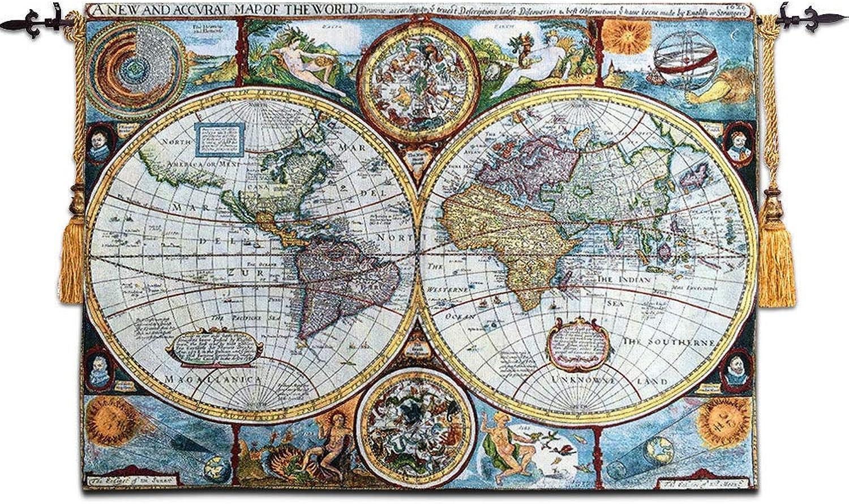 calidad de primera clase XURANFNAG Tapicería de Arte Belga tapicería de Estilo mediterráneo mediterráneo mediterráneo Mapa Mural partición Decorativa Pintura, 55  78  oferta de tienda