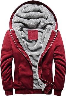 Flygo Womens Winter Thick Fleece Lined Zip Hoodie Sweatshirts Jacket Coat Outwear