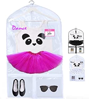 KEHO Clear Kids Garment Bag with 4 Pockets For Dance Competitions and Costumes   (Clear