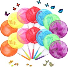 Siwo Rainbow Telescopic Butterfly Net Set,14 Pack Insect Catching Nets for Catching Insects and Small Fish