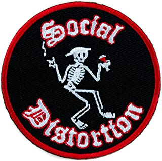 Social Distortion Punk Rock Band Patch Iron on Applique Alternative Clothing Ball and Chain