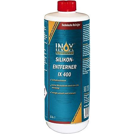 Inox Ix400 Silikonentferner 1l Universeller Reiniger Zum Lösen Und Entfernen Von Silikon Fett Öl Und Wachs Auto