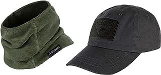 CONDOR Olive Drab Thermo Neck Gaiter Black Tactical Cap