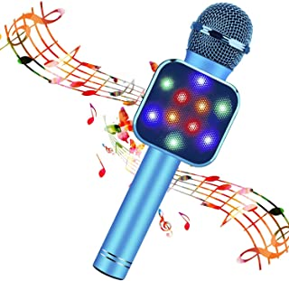BlueFire Wireless Bluetooth Karaoke Microphone 5 in 1 Handheld Karaoke Microphone Portable Bluetooth Speaker Home KTV Play...