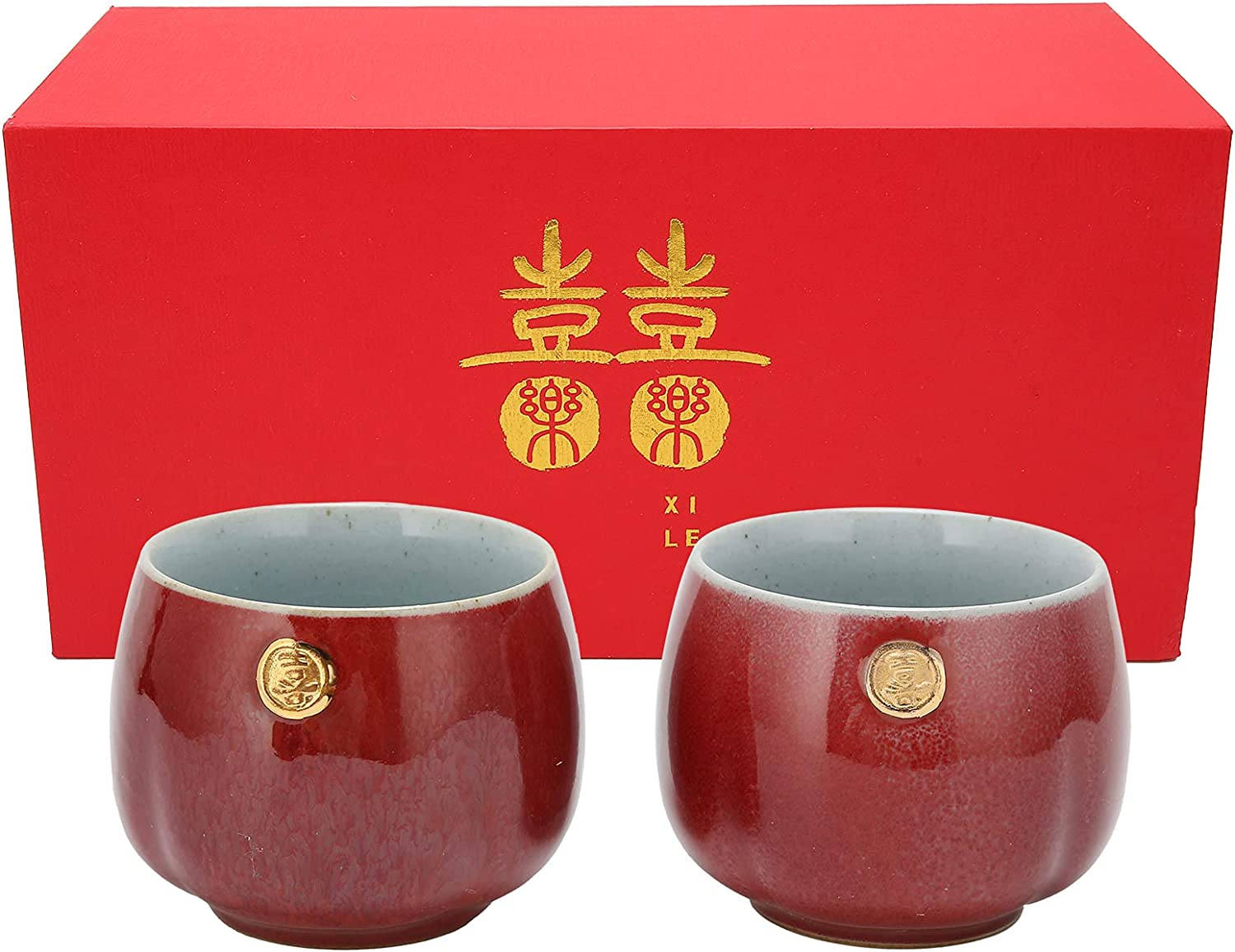 RUIRUIY Teacup Austin Mall Ceramic Cup Gift Style Chinese Tea 2Pcs Kung Selling
