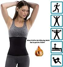 ADA Hot Body Slim Shaper Slimming Belt - ADA Tummy Trimmer Neotex Belt Sauna Women Men Waist Trainer Trimmer Belt Fat Burner Ab Cincher for Workout Weight Loss (Unisex)