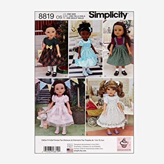 Simply Creative Group Simplicity 8819 14'' Doll Clothes OS (One Size) Multi