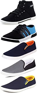 ETHICS Men's Combo Pack of 3 Loafers & 2 Sneakers