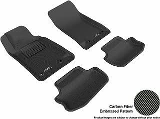 3D MAXpider Complete Set Custom Fit All-Weather Floor Mat for Select Chevrolet Camaro Models - Kagu Rubber (Black)
