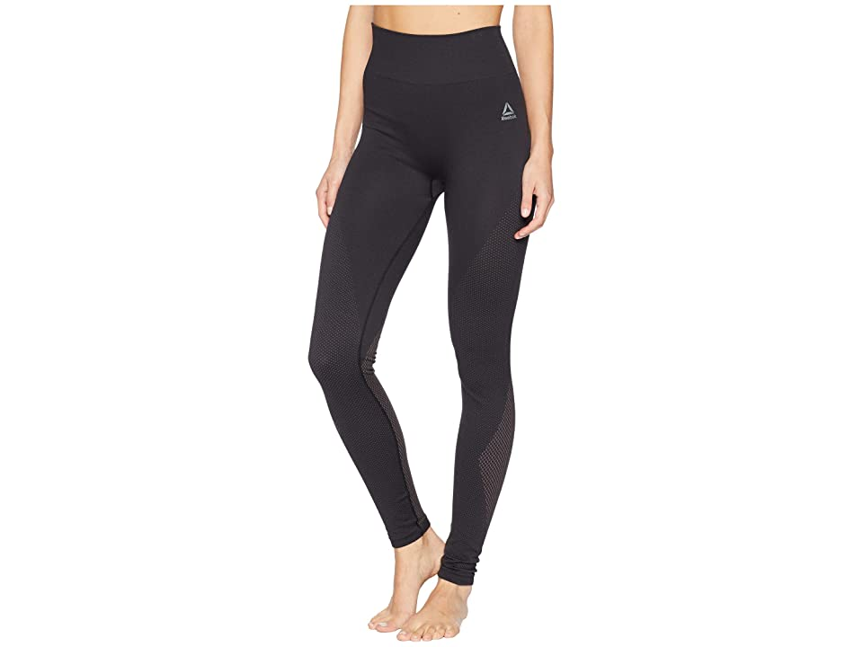 Reebok Workout Ready Seamless Tights (Black/Almost Grey) Women