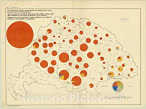 Historic Pictoric Map : Hungary 1918 56, Antique Vintage Reproduction : 44in x 33in