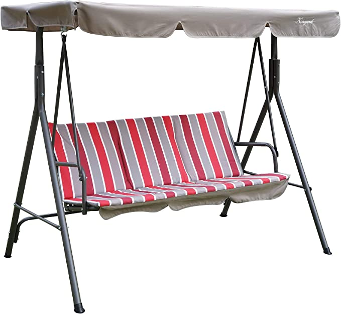 Kozyard Alicia Patio Swing Chair – Most Economical Porch Swing with Canopy