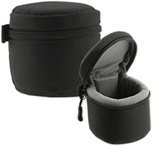 Navitech Black Polyester Camera Lens Case with MOLLE style strap suita...