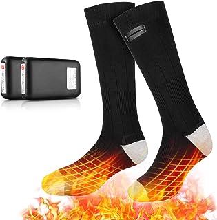 Eventek Heated Socks for Men Women, 4000mAh Rechargeable Washable Electric Thermal Warming Socks, 3 Heating Settings, Wint...