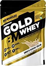 Bigmuscles Nutrition Premium Gold Whey [Smooth Banana Cream] | Whey Protein Isolate & Whey Protein Concentrate | 25g Prote...