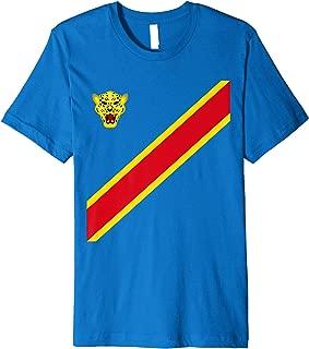 Congo Football Souvenir Flag Of DRC Leopards Proud Congolese Premium T-Shirt