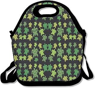 Kawaii Print Turtle Lunch Bag Tote Handbag Lunchbox For School Work Outdoor