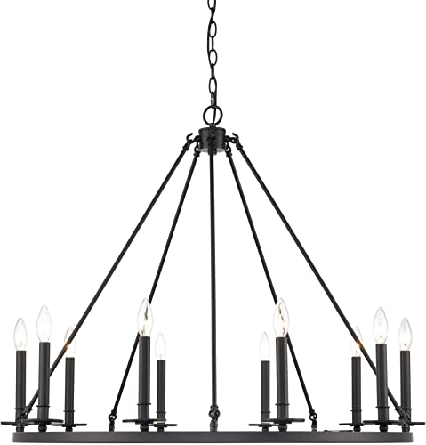 new arrival Millennium 6710-MB Transitional Ten outlet sale lowest Light Chandelier from Florence Collection in Black Finish sale