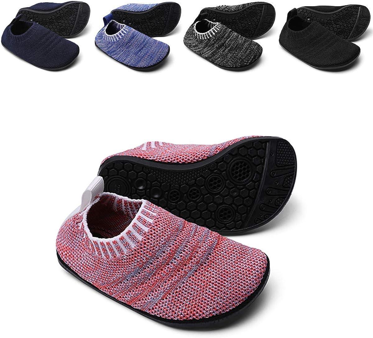 Sosenfer half Toddler Slipper Milwaukee Mall Socks for Girls Sol Boyswith Rubber