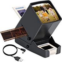 "$33 » Sponsored Ad - DGODRT Slide Viewer, 3X Magnification and LED Lighted Illuminated Viewing Fits 2X2"" Slides 35mm Film Strips..."