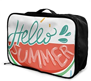 Foods Clipart Summer Season Customize Casual Portable Travel Bag Suitcase Storage Bag Luggage Packing Trolley Bag