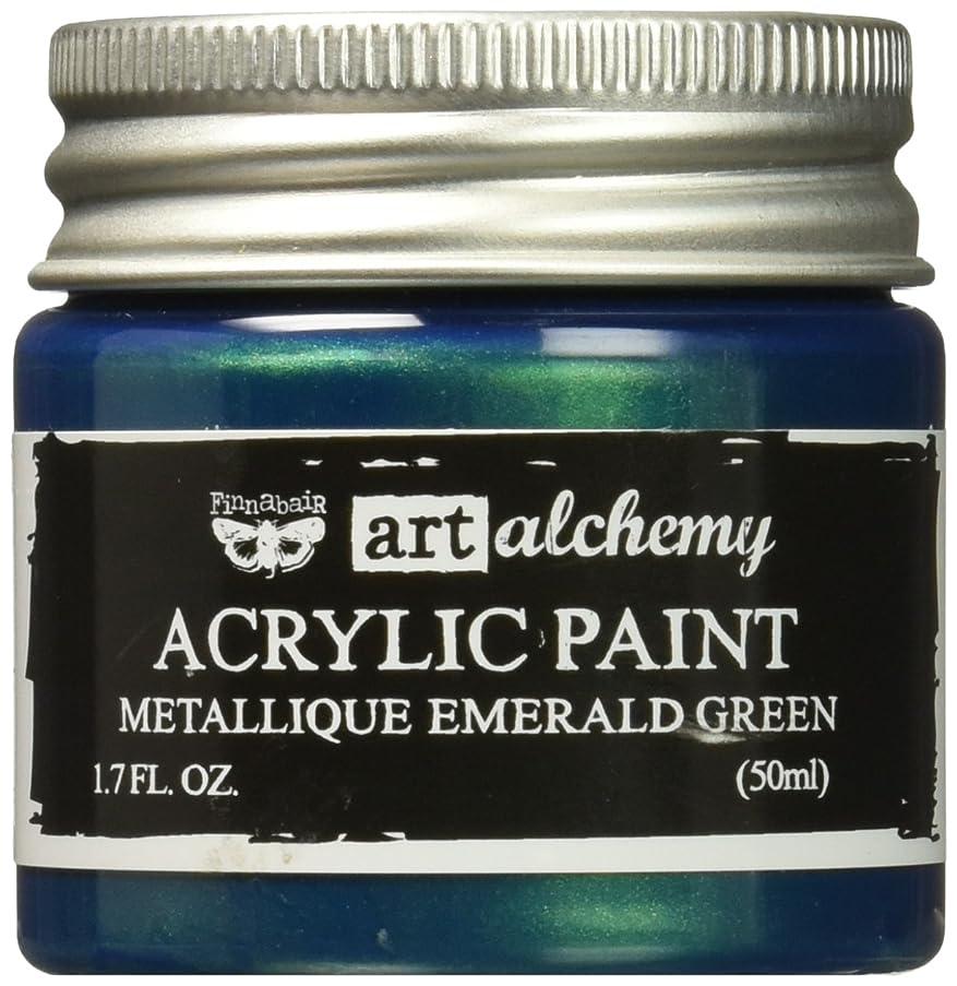 Prima Marketing 963170 Finnabair Art Alchemy Acrylic Paint, 1.7 fl. oz., Metallique Emerald Green