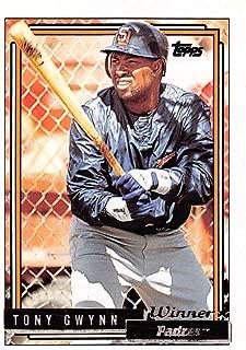 Baseball MLB 1992 Topps Gold Winners #270 Tony Gwynn 3000 Padres