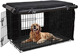 HONEST OUTFITTERS Dog Crate Cover, Dog Kennel Cover for Medium and Large Dog, Heavy Duty Oxford Fabric,with Double Door, P...