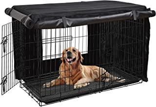 HONEST OUTFITTERS Dog Crate Cover, Dog Kennel Cover for Medium and Large Dog, Heavy Duty Oxford Fabric,with Double Door, Pockets and Mesh Window