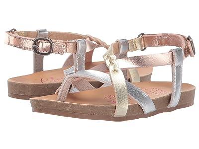 Blowfish Kids Granola B T (Toddler/Little Kid) (Silver/Rose Gold/Gold Dyecut) Girls Shoes