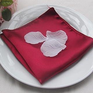 HUAYING 40cm * 40cm sur Mesure Rouge Bordeaux Vert Jaune Or Marine Argent Noir Blanc Rouge Lilas Satin Serviette de Table