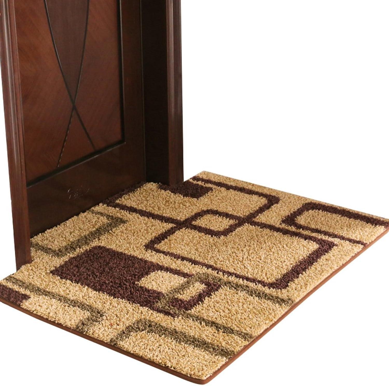 Doormats, Non-Slip Mat, Wear-Resistant, Strong Water Absorption, Cozy Carpet, Bathroom Kitchen Doorway Balcony-C 80x100cm(31x39inch)
