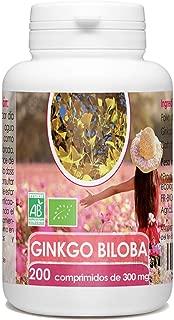 Ginkgo Biloba Orgánico - 200 comprimidos - 300 mg