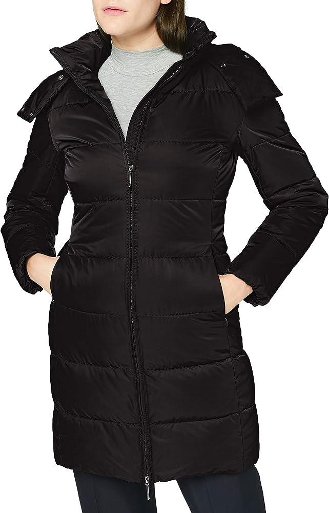Hugo boss, giacca per donna,giacca con cappuccio trapuntata,idrorepellente 50440404